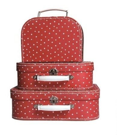 EGMONT ZESTAW WALIZEK 3 PCS RED AND DOTS